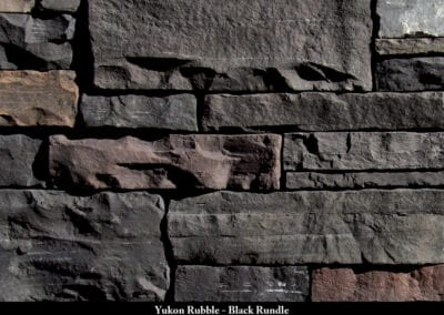 Yukon Rubble Manufactured Stone Black Rundle